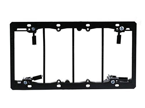 Monoprice 107064 Low Voltage Mounting Bracket, 4-Gang (2 Pack)