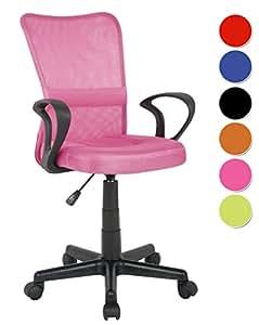 Sixbros silla de oficina silla giratoria fucsia h 298f for Sillas para escritorio juvenil precios