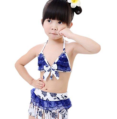 Bikini De Ensemble Eté Fille Petite Acvip Pièces Bain Enfant Bleu Maillot Deux RIOYqqBw