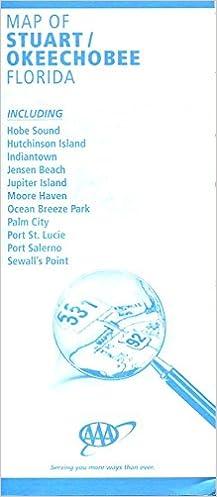 Map Of Stuart Okeechobee Florida Huge Foldout Aaa Aaa Amazon