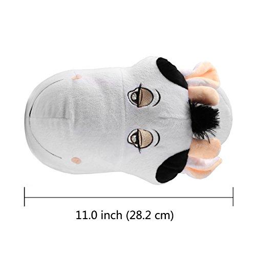 9 Slip 8 Slippers Fits Womens Women On Cute 10 Plush Home Comfy House Size Indoor Cattle Family Size Cartoon 11 Slipper Men q8SZHpwq