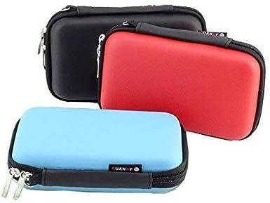 Blau MystiTL Zubeh/ör 2.5 Zoll Tragbare Reisetasche f/ür Electronisches Zubeh/öre Organizer Case Tasche Tragetasche Wasserdicht f/ür USB Drive Shuttel Festplatte