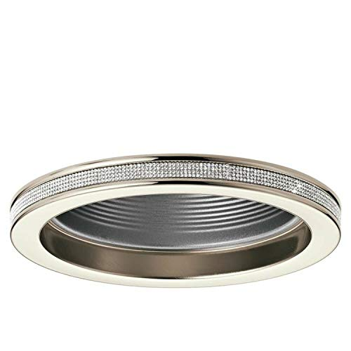 - Kichler Angelica Polished Nickel Baffle Recessed Light Trim (Fits 6