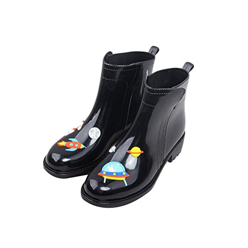 Zhuhaixmy Persönlich Damen Low-Calf Niedrig-Kalb Gummi Rainboots Regen Stiefel Wasserdicht Martin Rain Boots Shoes Regen Schuhe Wasser Schuhe Black Blue