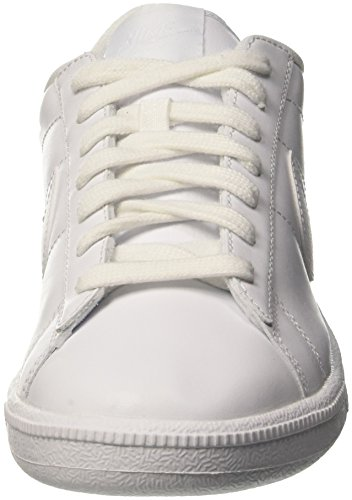 NIKE Men's Tennis Classic Leather Fashion Sneaker White / White-blue Cap 100% authentic clearance cost k7OjRiO