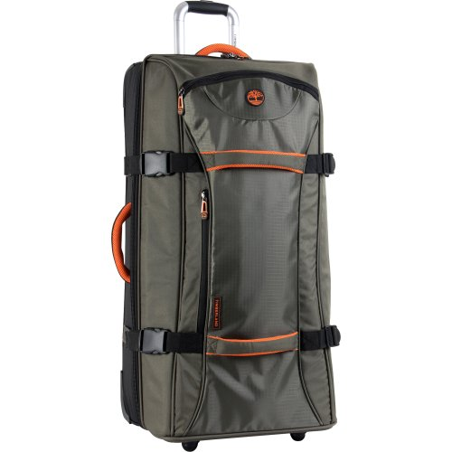 Timberland Luggage Twin Mountain 30 Inch Wheeled Duffle, Burnt Olive/Burnt Orange, One Size by Timberland