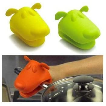 Chris's Home Animal Dog Doggie Design Pliable Silicone Pot Holder Silicone Glove Oven Mitt