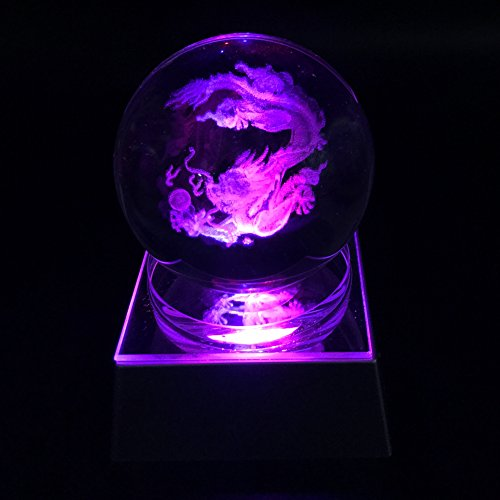 JINGDIAN Crystal LED Chinese Dragon Home Decoration Ball