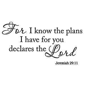 Amazoncom Vwaq For I Know The Plans I Have For You Declares The
