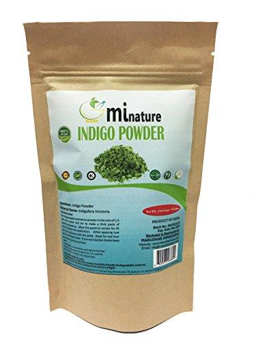 (Natural Indigo Powder -Indigofera Tinctoria, Rajsrhani Indigo Powder for hair dye, Natural hair color by mi nature)