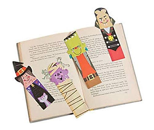Laminated Halloween Bookmarks (48 Pieces) -