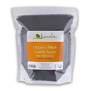 Kevala Organic Raw Black Cumin Seeds (Nigella Sativa) 1 Lb