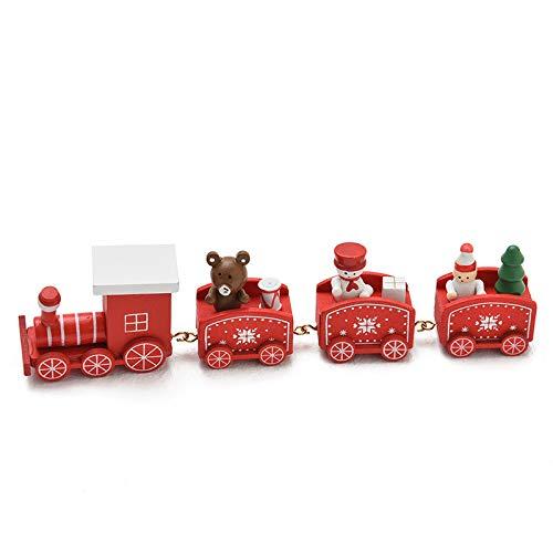 JAYSLE 2Pcs Christmas Wooden Train Kids Toys Birthday New Year Xmas Décor Festival Ornament Gift by JAYSLE (Image #4)