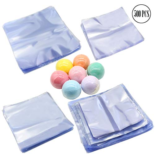 BcPowr 500 Pcs Clear Shrink Wrap Bags Odorless Heat Shrink Wrap Bags Perfect for Wrapping A Wide Variety of Products.(6