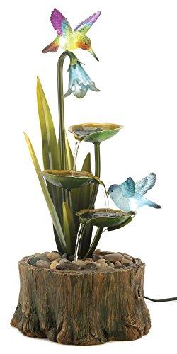 Hummingbird Haven Home Garden Decor Water Fountain by Home Locomotion by Home Locomotion