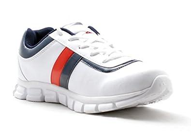 the best attitude ec5d5 da048 Adza Men's 6144 Classic White Mesh Sports Shoes White 7: Buy ...