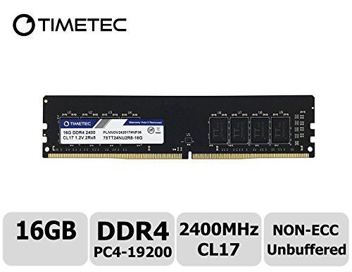 - Timetec Hynix IC 16GB DDR4 2400MHz PC4-19200 Non-ECC Unbuffered 1.2V CL16 2Rx8 Dual Rank 288 Pin UDIMM Desktop PC Computer Memory Ram Module Upgrade (16GB)