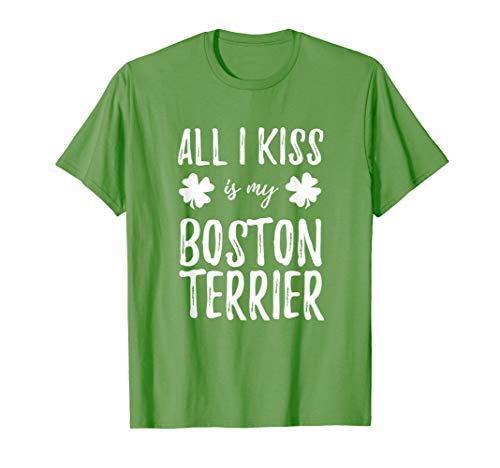 St Patricks Day Boston Terrier Dog Mom T-Shirt Funny Irish