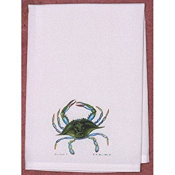Betsy Drake GT004 Blue Crab Guest Towel