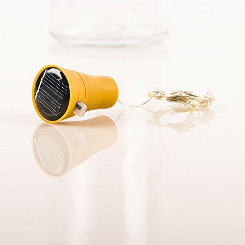 - PaperLanternStore.com Solar Powered 10 Warm White LED Cork Wine Bottle Lamp Fairy String Light Stopper, 3FT (1pc)