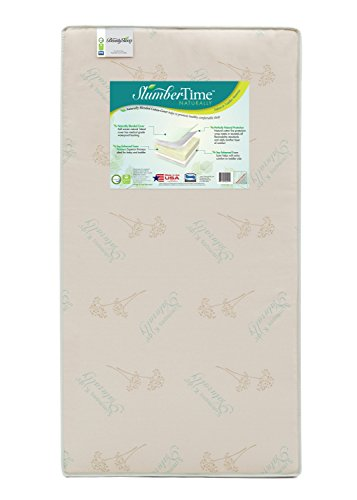 Simmons Kids SlumberTime Naturally Foam Crib and Toddler Mattress |Waterproof | GREENGUARD Certified (Natural/Non-Toxic)