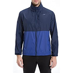 Trailside Supply Co. Men's Standard Water Resistant Nylon Windbreaker Front Zip up Jacket