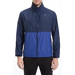 Trailside Supply Co. Men's Standard Water Resistant Nylon Windbreaker Front Zip up Jacket