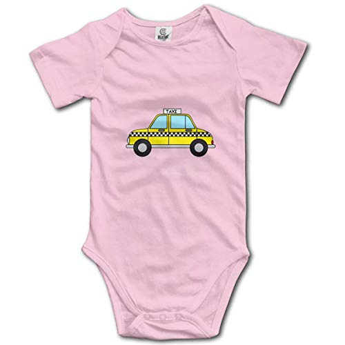 sport outdoor 003 Yellow Taxi Car Baby Short-Sleeve Bodysuit Baby Boys Girls]()