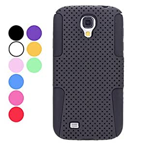 Dismountable Gridding Design Soft Case for Samsung Galaxy S4 I9500 (Assorted Colors) --- COLOR:Purple
