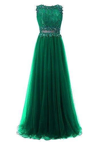 de para Verde Aplicado Tul Vestidos Vestidos Fiesta Largos Callmelady de Noche Mujer qRtzwCnTa