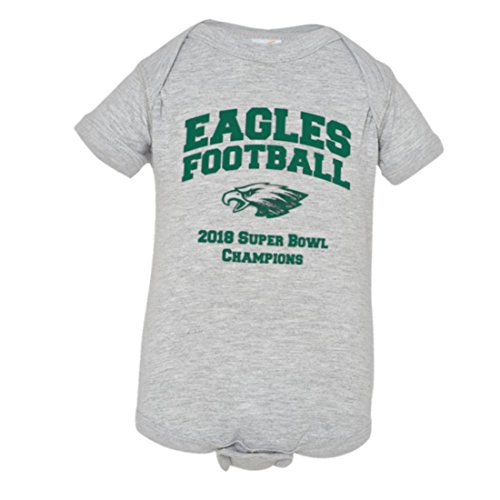 Baby Creeper Eagles 2018 Superbowl Champs 1-Piece Jumper Grey-12M