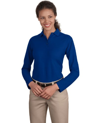 Port Authority Women's Port Authority Ladies Long Sleeve Silk Touch XL Royal