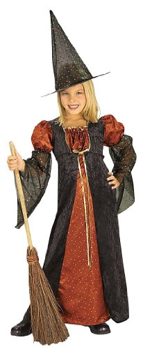 Halloween Concepts Child's Orange Glitter Witch Costume, Small (Easy Witch Costume)