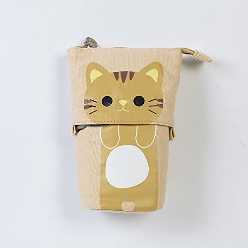 WRITIME Estuche de cremallera Cute Kawaii Cat Caja de lápices ...