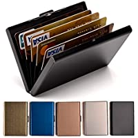 Credit Card Holder Stainless Steel Credit Card Case Metal ID Card Holder RFID Wallets for Women or Men