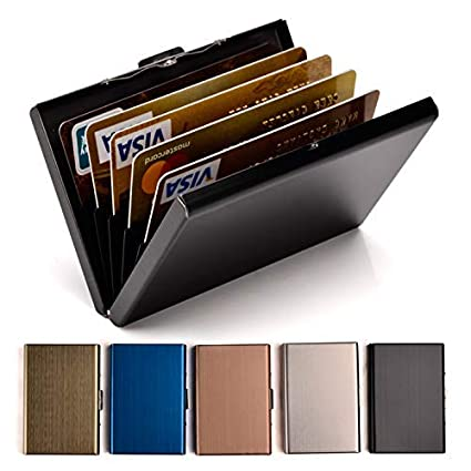 online store e9ceb 4bcb1 Credit Card Holder Stainless Steel Credit Card Case Metal ID Card Holder  RFID Wallets for Women or Men