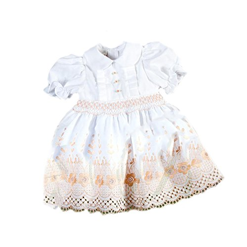 Rosalina White Beige Floral Lace Smocked Doll Dress 5511Dd Bei Dolls /& Accessories ababy 5511DDBEI