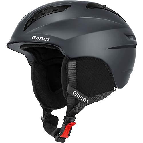 Gonex Ski Helmet Winter Snow Snowboard Skate Helmet with Safety Certification for Men, Women & Young Size M Adjustable 55-58cm Gray