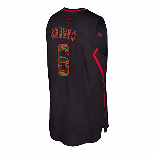 adidas DeAndre Jordan Los Angeles Clippers NBA Black Fashion Camo Climacool Swingman Jersey For Men (L)