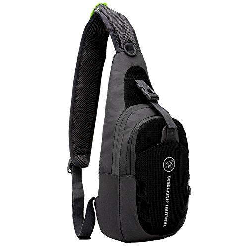 GADIEMENSS Lightweigh Breathable Multi Purpose Waterproof Chest Bag Sling Shoulder Backpack Black
