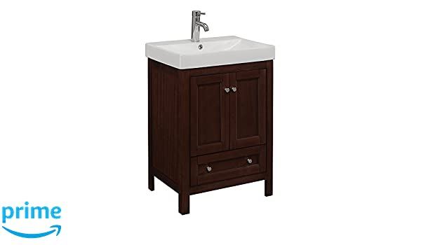 RunFine RFVAL0001 Vanity with Virtuous China Top, 1 Slow Close ...