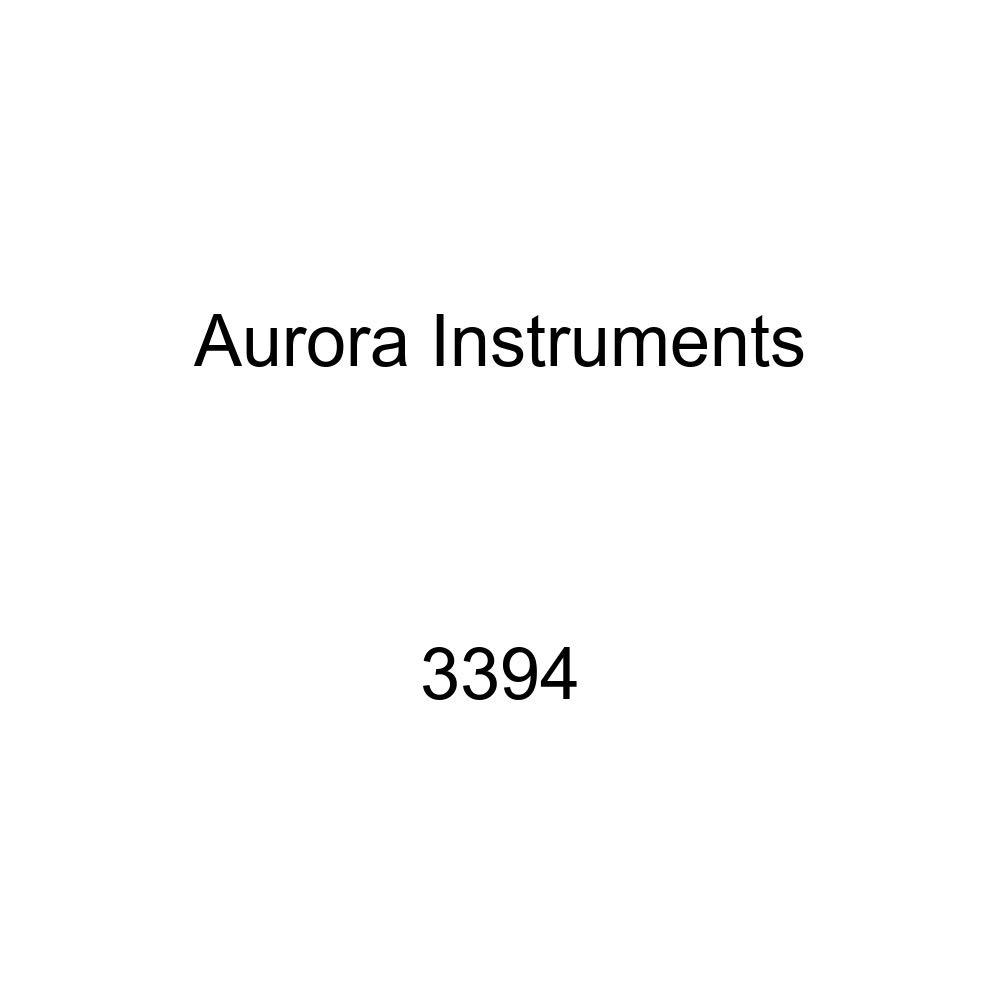 Aurora Instruments 1498 Vintage Autobahn White SAE Oil Pressure Gauge Black Modern Needles, Chrome Trim Rings, Style Kit Installed