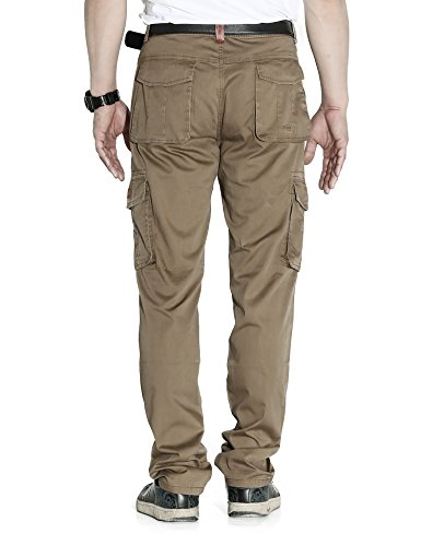 LOHASCASA Men's Big and Tall Cleaning Cargo Pants - Back - Loose