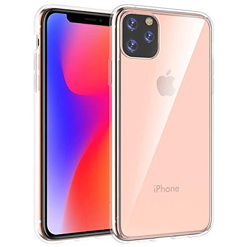 I Phone 11Pro Clear case Compatible with Apple iPhone 11 Pro Cover Iphon11Pro Iphone11 Pro Luxury Iohone IP Iph Funda Coque Slim 5.8 inch (Clear) (Coque Iphone)
