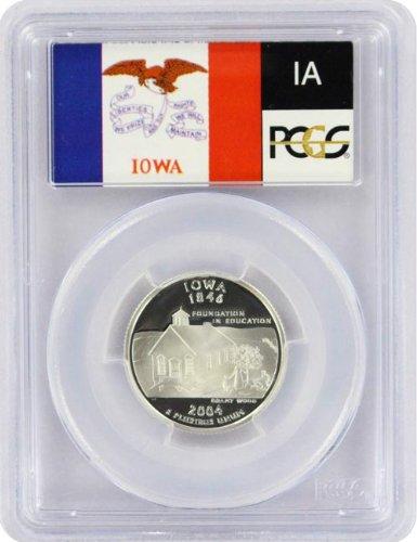 2004 Iowa State S Silver Proof Quarter PR-69 PCGS