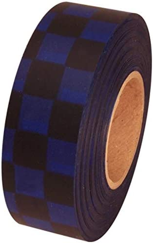 Blue 12 Rolls Flagging Checkerboard Tape 1 3//16 in x 300 ft Non-Adhesive White
