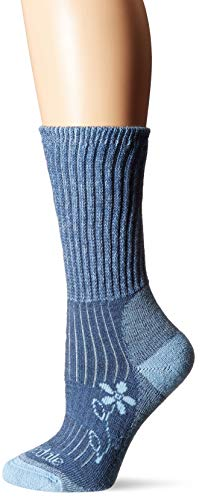 Bridgedale Women's Hike Midweight Boot Height- Merino Comfort Socks, Blue, Medium ()