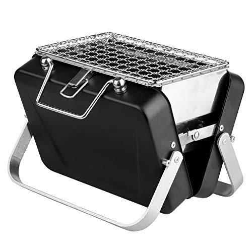 wang JESS Barbecue Charcoal Grill,Stainless Steel Portable Folding Charcoal Barbecue,Multi-Function Lightweight Barbecue Grill Tools for Outdoor Grilling Cooking Camping Hiking Picnics