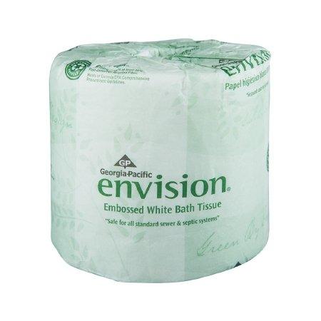 Georgia-Pacific Envision 19881/01 White 1-Ply Embossed Bathroom Tissue, (WxL) 4.000