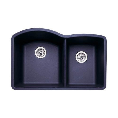 Diamond Silgranit Anthracite Double Bowl (Blanco 440179 Diamond 1-3/4 Bowl Kitchen Sink, Anthracite)